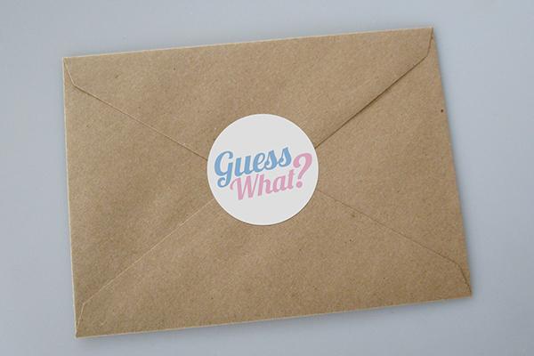 formal gender reveal invitation template