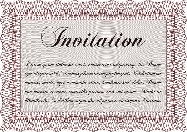 16 formal invitations sample templates simple formal invitation frame stopboris Choice Image