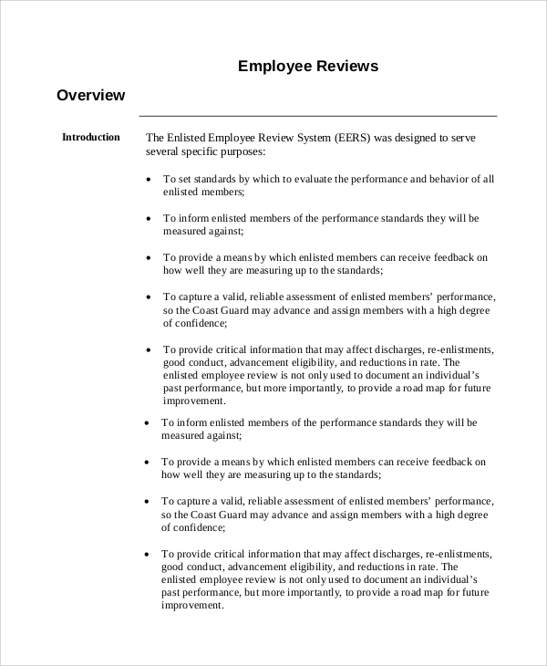 Employee Reviews Template  BesikEightyCo