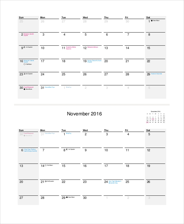 photograph regarding Blank Daily Calendar referred to as Pattern Each day Calendar - 9+ Files inside PDF, Term