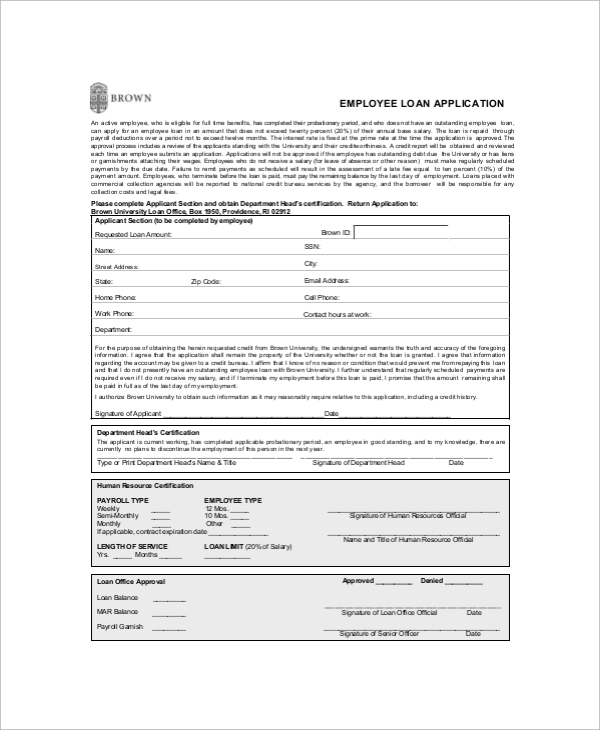 Sample Employment Application Form 10 Documents in PDF – Sample Employment Application Form