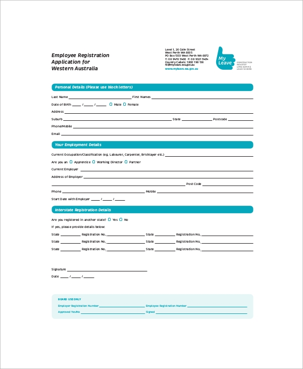 employee registration application form1