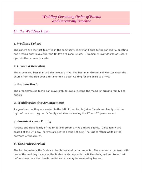 wedding ceremony event