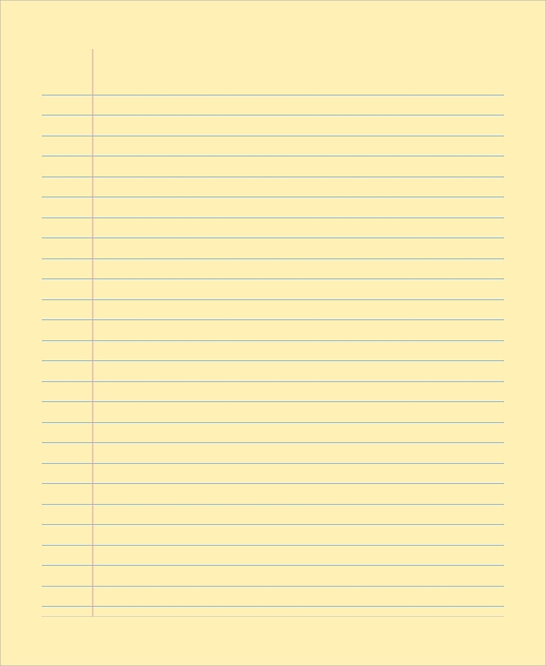 school notebook paper