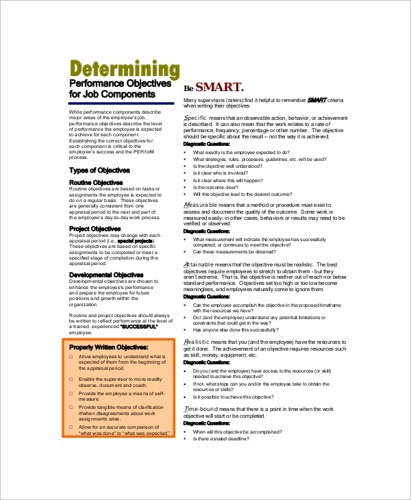 Sample Job Objective - 6+ Documents in PDF