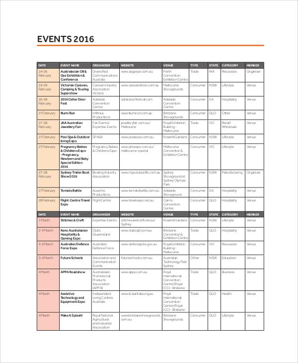 consumer exhibition event calendar