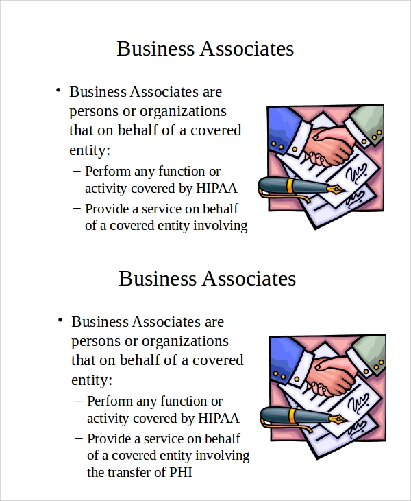 business associates presentation sample