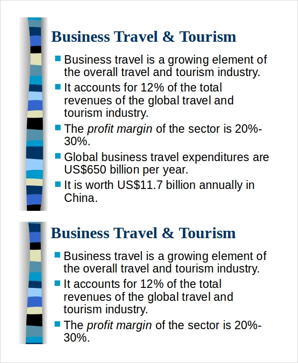 business travel tourism presentation