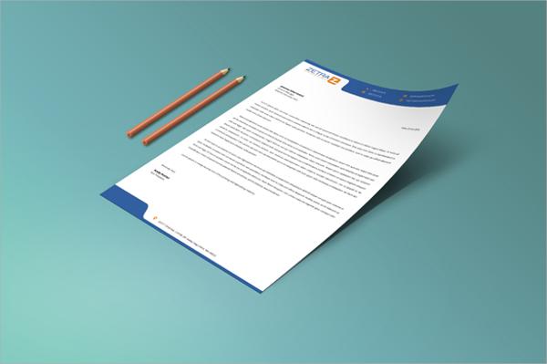 professional free letterhead template