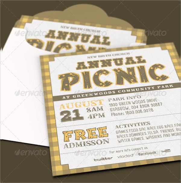 16  picnic invitations