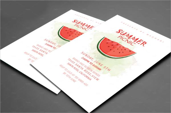 summer picnic invitation template