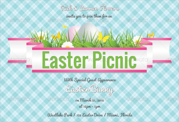 picnic invitation psd