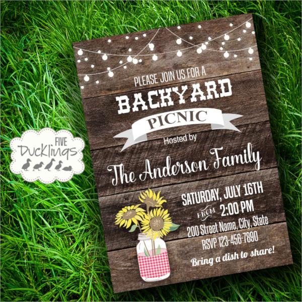 printable picnic invitation template