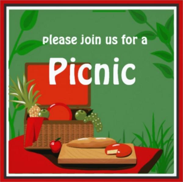 picnic basket invitation template