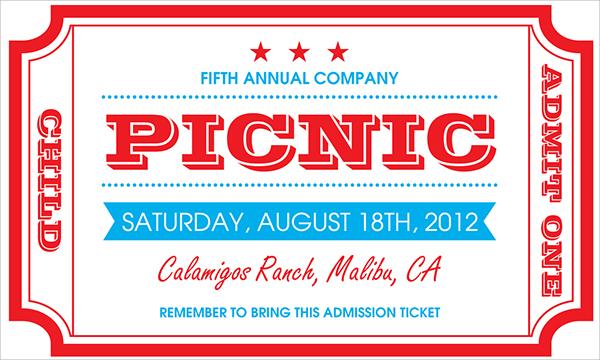 free picnic invitation