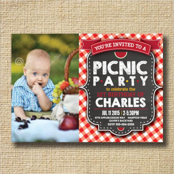 amazing picnic invitation