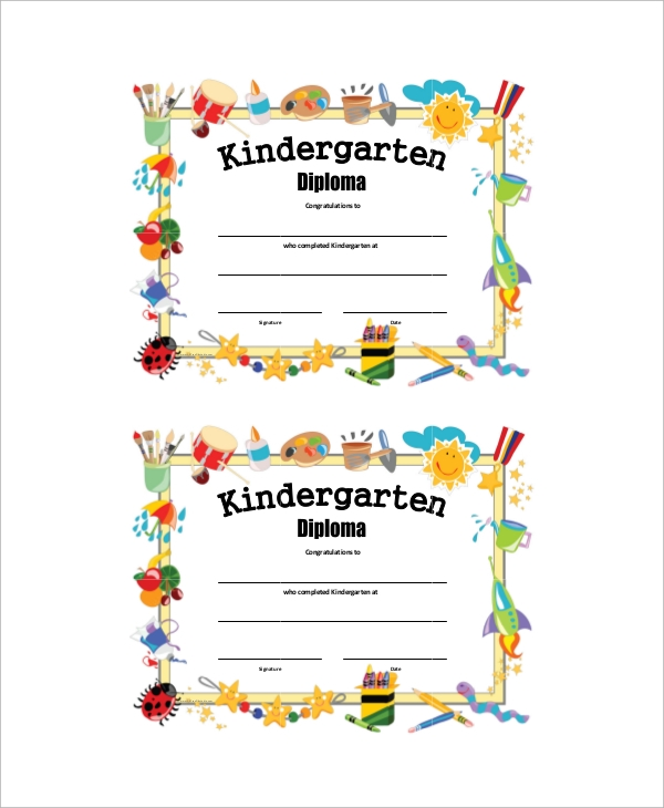 Sample graduation certificate 6 documents in pdf kindergarten graduation certificate yadclub Image collections