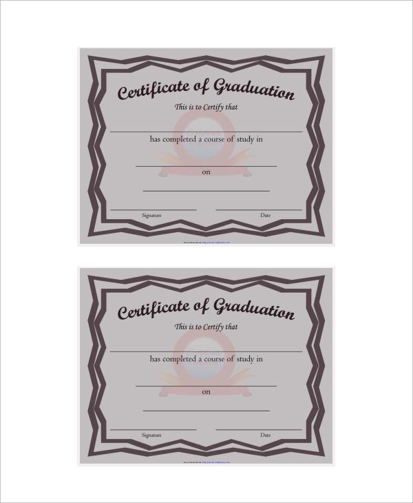 formal graduation of certificate