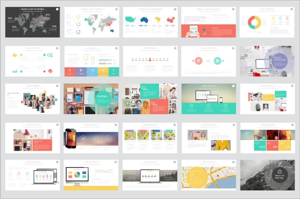 monica project presentation template