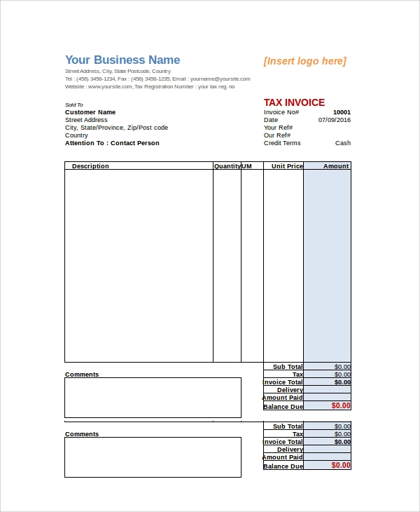 sample invoice 25 documents in pdf word excel