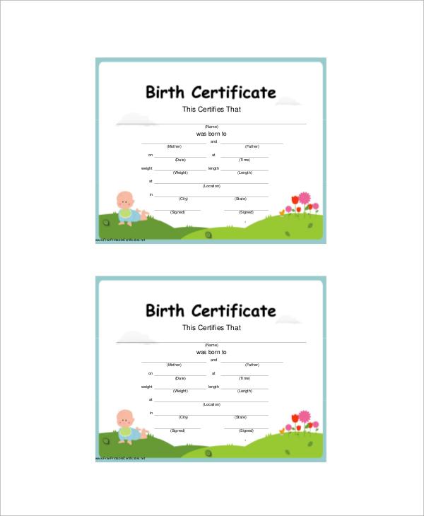 sample birth certificates