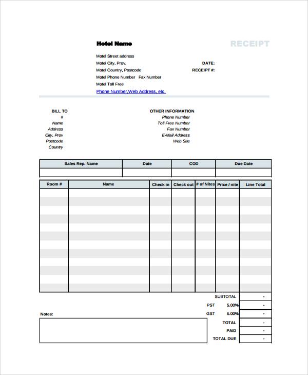 invoice receipt