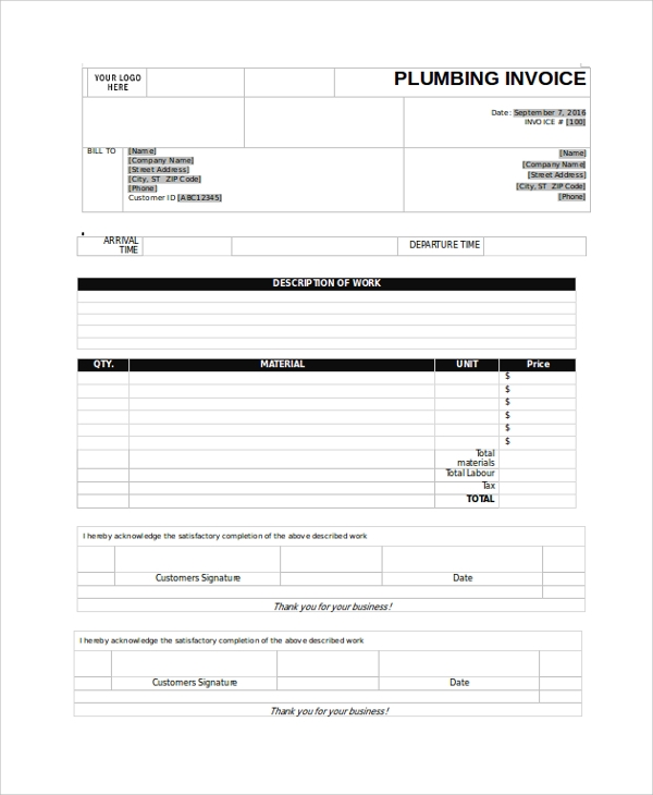 Sample Invoice   Documents In Pdf Word Excel