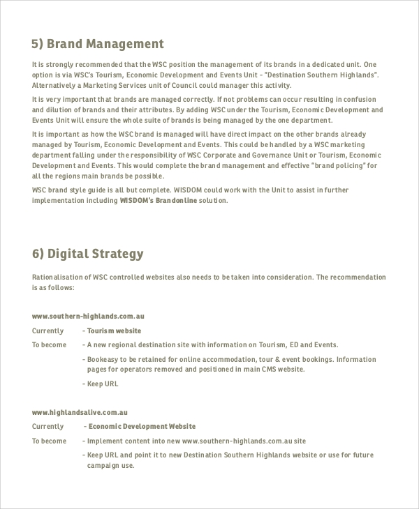 corporate branding strategy template