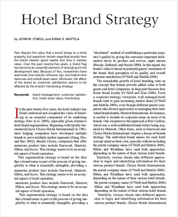 Asian hotels brand str tegy