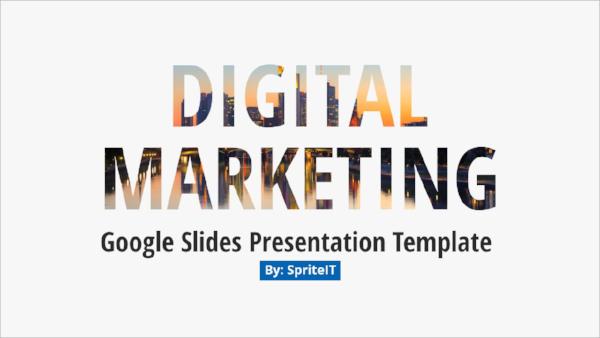 marketing technology presentation template
