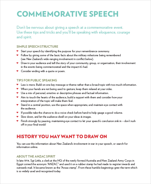 Ceremonial Speech Example Template Valedictorian Speech Examples