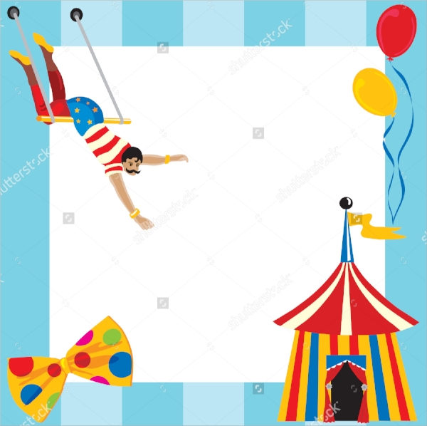 circus themed party invitation