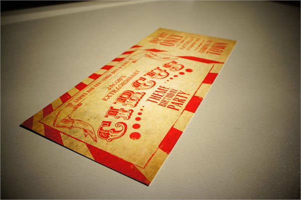 sample circus party invitation