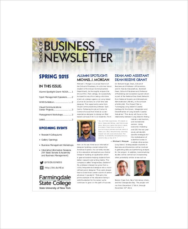 school of business newsletter