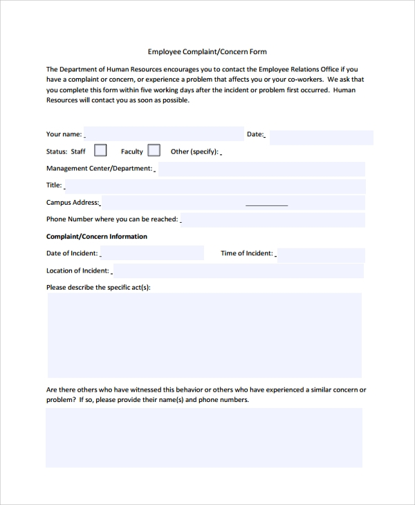 Sample Hr Form   Documents In Pdf Word Excel