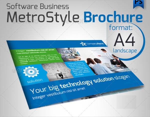 software metro style brochure