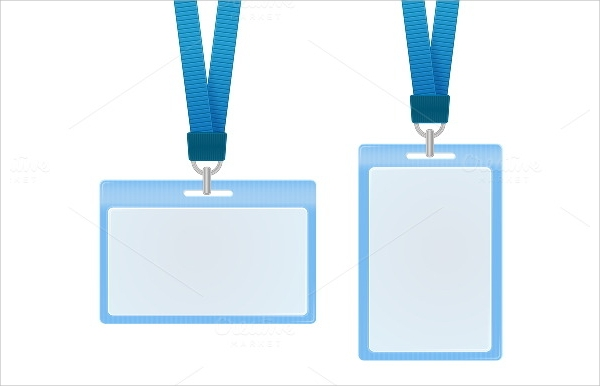 blue id card vector illustration