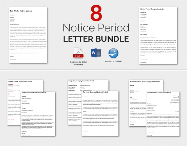 notice period letter bundle