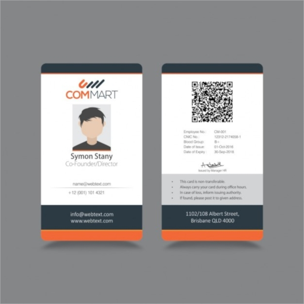 Id Card Template Medical Id Card Healthcarehospital Badge
