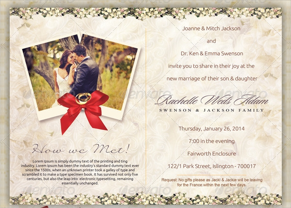 classique wedding postcard template