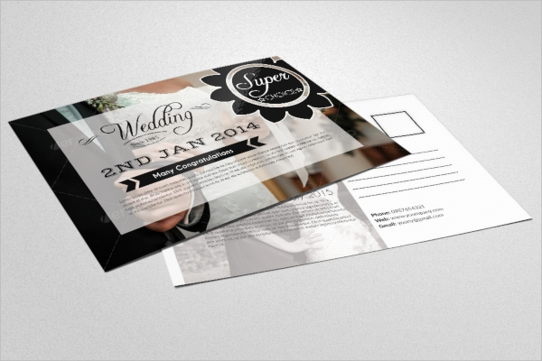 sample wedding invitation postcard
