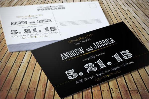 customizable wedding invitation postcard