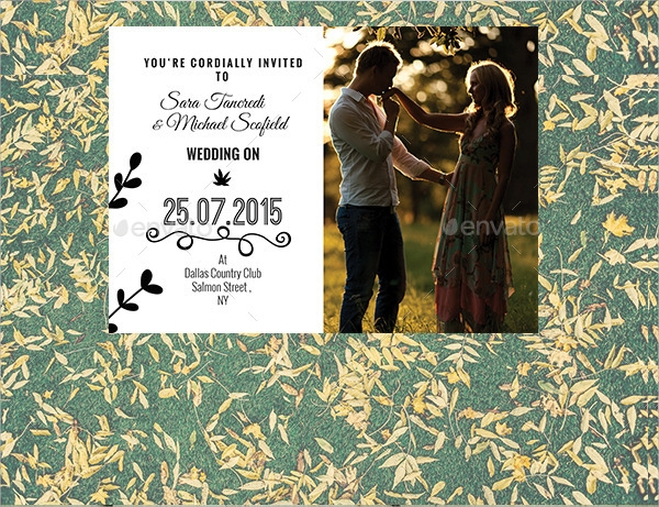 vector eps wedding invitation postcard
