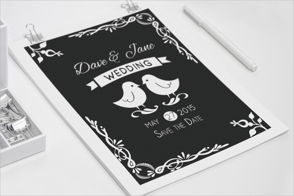 simple wedding invitation postcard