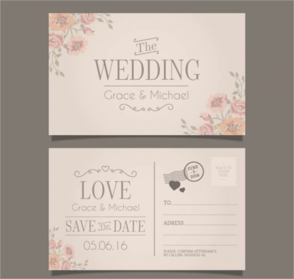 free wedding invitation postcard