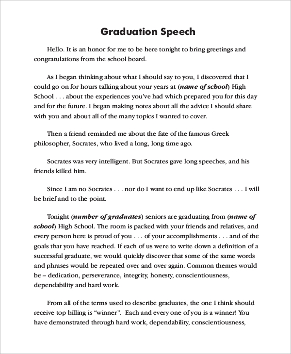 valedictorian speech template - sample graduation speech bing images