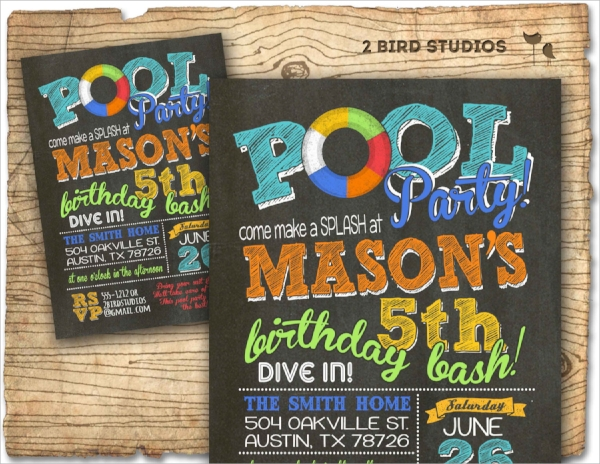 17 Pool Party Invitations PSD Vector EPS – Pool Party Invite Template