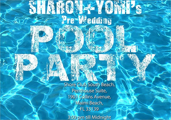 17 pool party invitations psd vector eps for Pool design templates