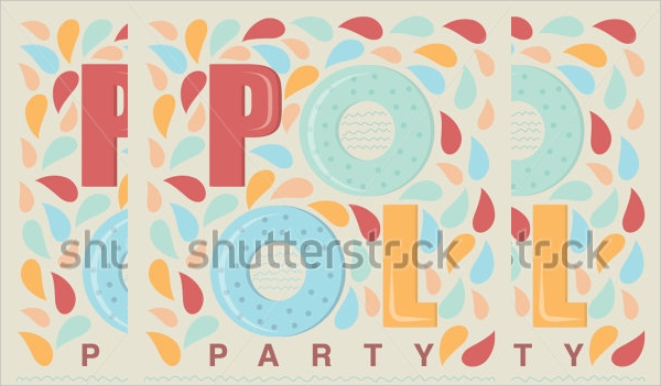 sample pool party invitation