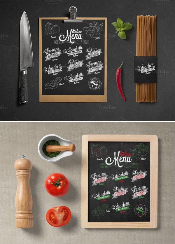 black board italian menu1